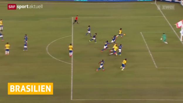 Video «Fussball: Brasilien gewinnt Testspiel gegen Ecuador» abspielen