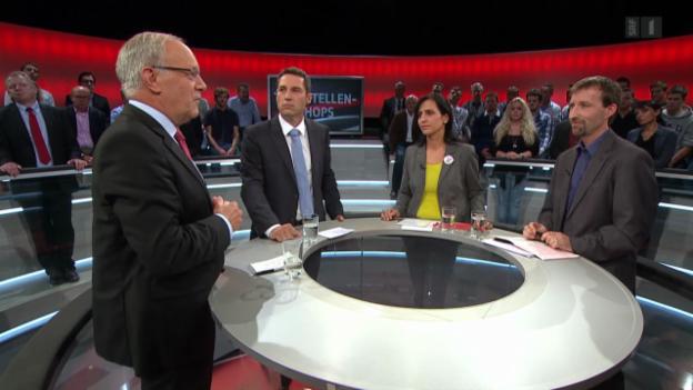Video «Abstimmungs-Arena: Änderung Arbeitsgesetz: Tankstellenshops» abspielen