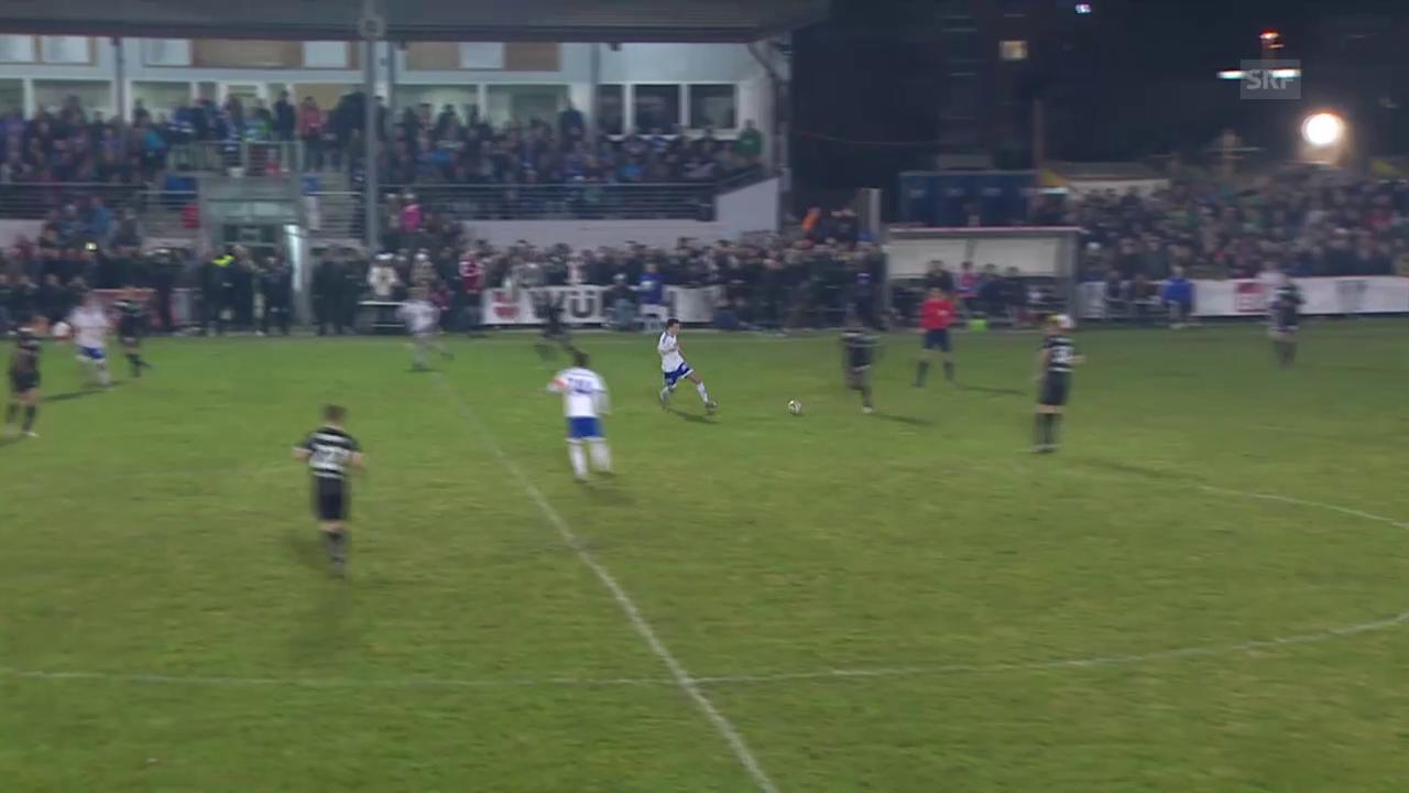 Fussball: Cup-Viertelfinal, Buochs - St. Gallen, Tor Sikorski 3:0