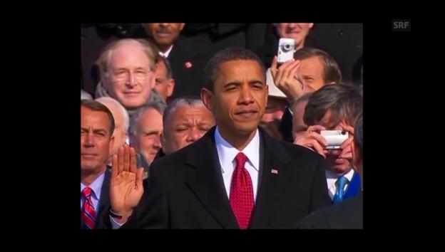 Video «Obama verliert beim Eid den Faden» abspielen