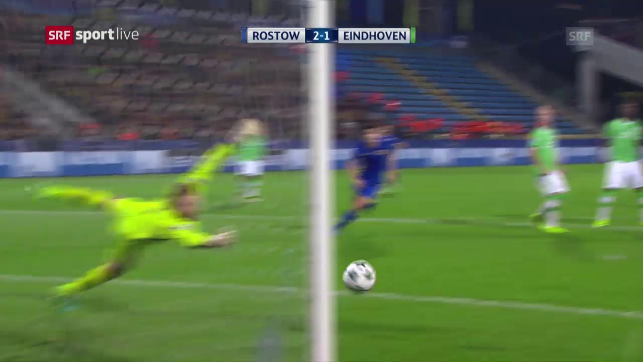 Rostow holt gegen PSV seinen ersten CL-Punkt