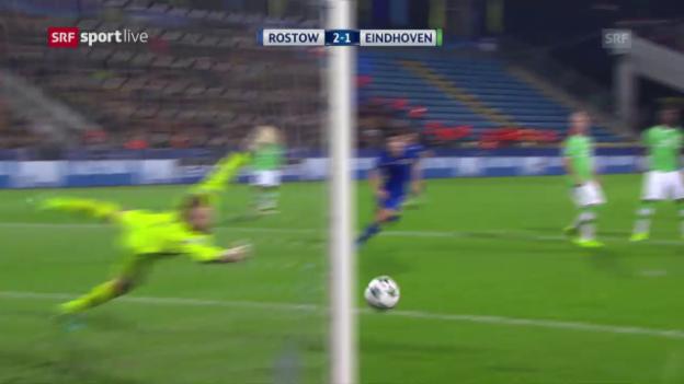 Video «Rostow holt gegen PSV seinen ersten CL-Punkt» abspielen