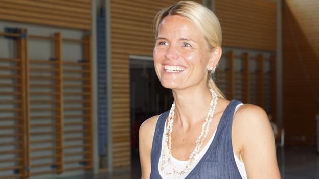 Susanne Gregorin ist zufrieden mit der Theaterprobe