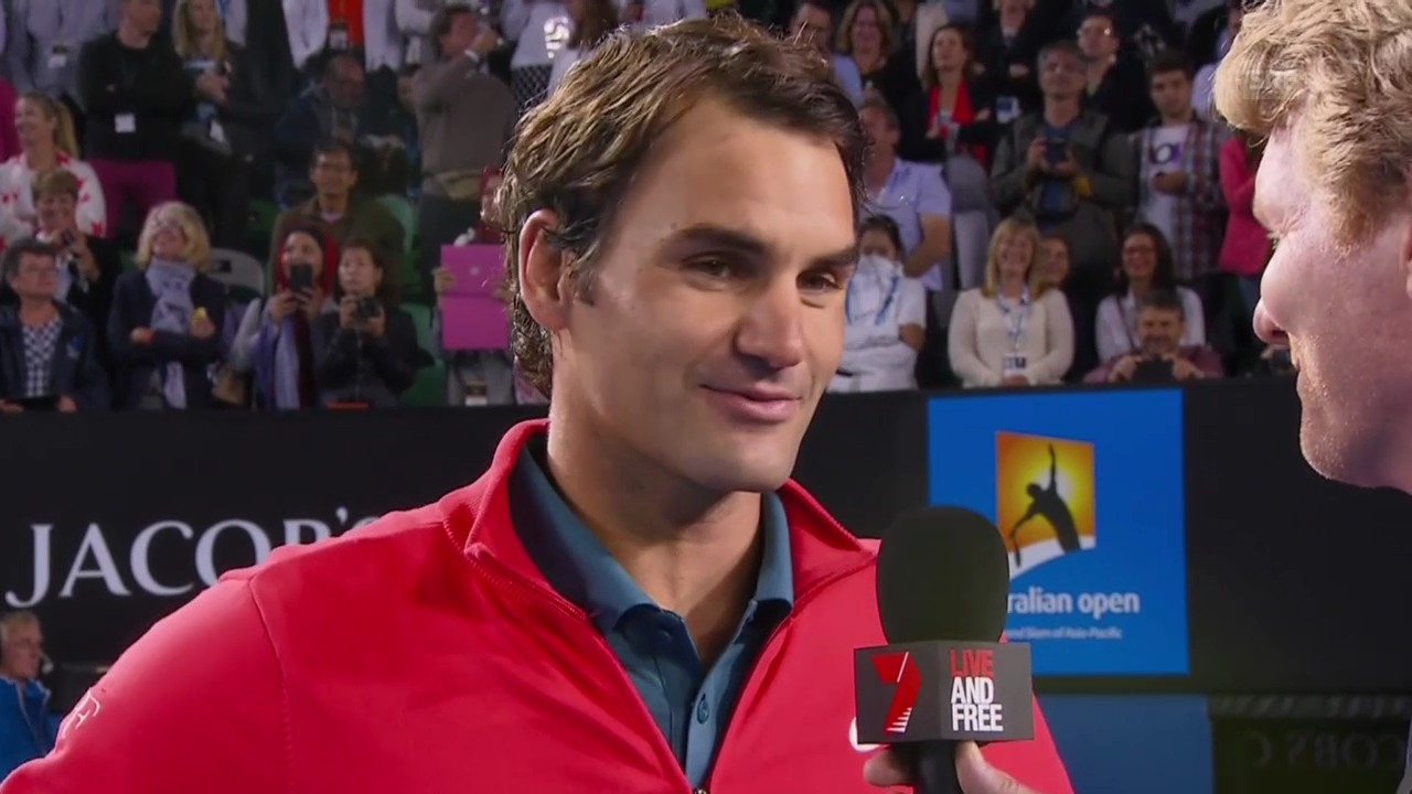 Tennis: Australian Open 2014, Achtelfinals, Platzinterview Federer («sportlive», 20.1.14)