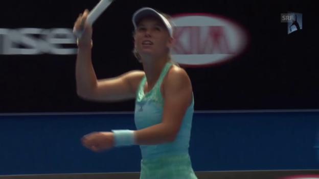 Video «Tennis: Australian Open, Matchball Wozniacki - Townsend (Quelle: SNTV)» abspielen