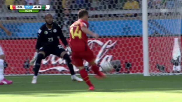 Video «Dries Mertens' 2:1 gegen Algerien» abspielen