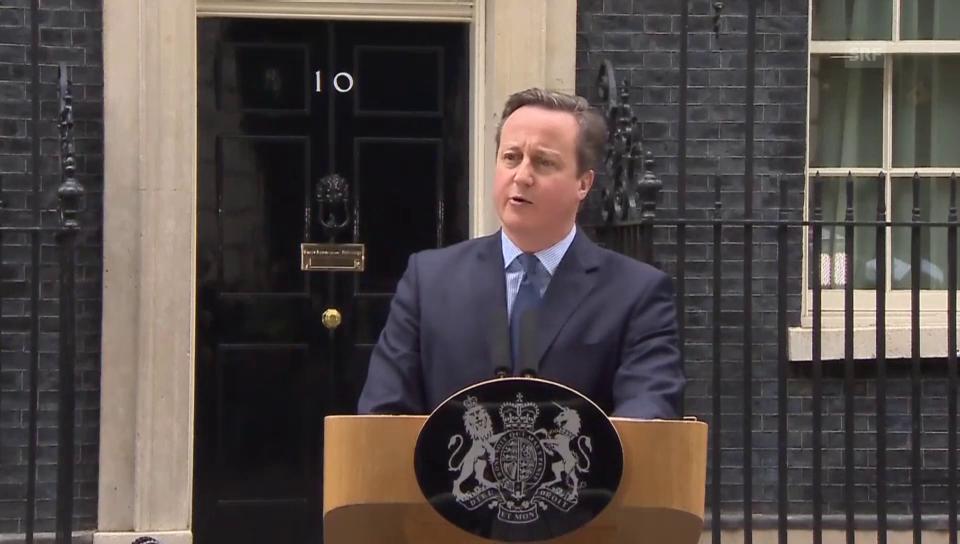 Cameron redet dem Volk ins Gewissen