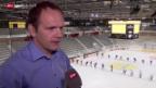 Video «Eishockey: Der EHC Biel in seinem neuen Stadion» abspielen