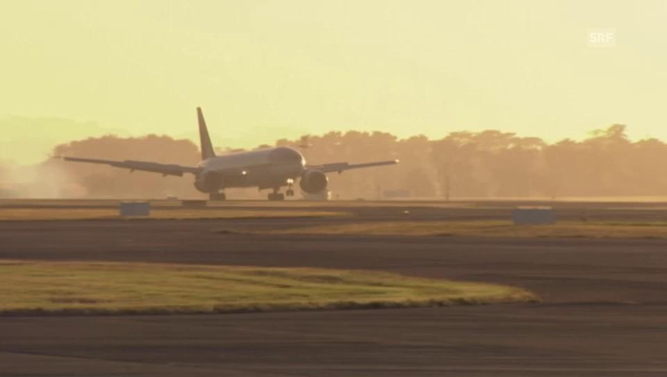 Die Landung in Auckland