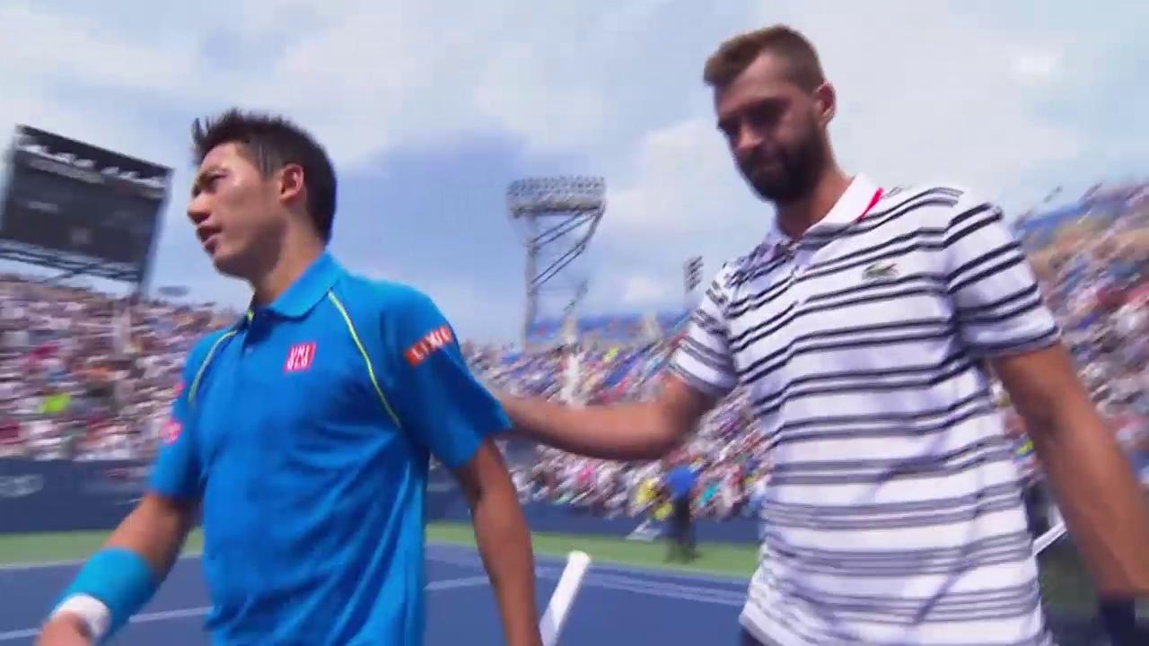 Paire wirft Vorjahresfinalisten Nishikori aus US Open
