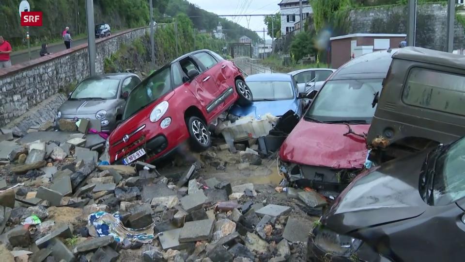 Unwetterschäden im belgischen Dinant