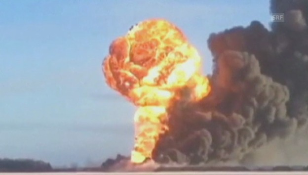 Video «Zug explodiert in North Dakota» abspielen