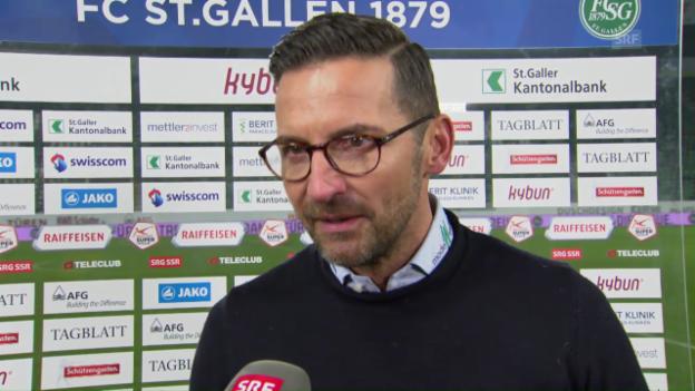 Video «Zinnbauer: «Auch gegen 10 Mann war es brutal schwer»» abspielen