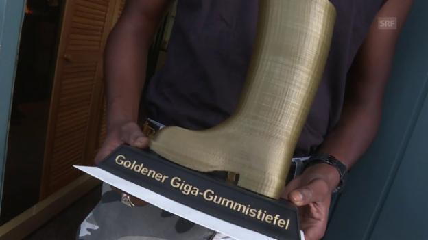 Video «Der Gewinner des «Goldenen Giga-Gummistiefel»» abspielen