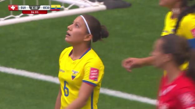 Video «Fussball: Frauen-WM, Schweiz-Ecuador, Tore Angie Ponte» abspielen