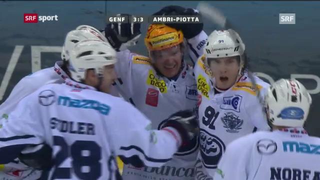 Eishockey: Genf-Servette - Ambri (Beitrag «sportaktuell»)