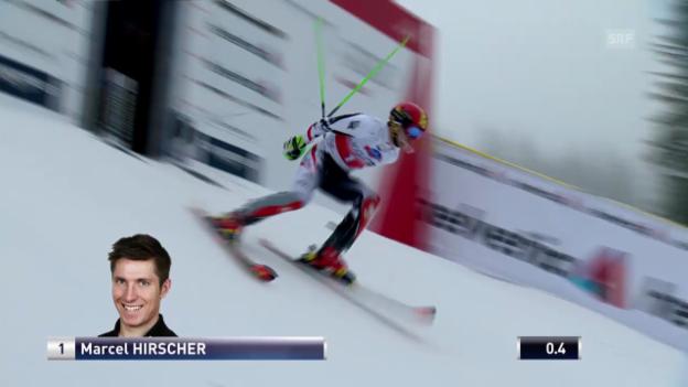 Video «Ski Alpin: Slalom Lenzerheide, 1. Lauf Hirscher («sportlive», 16.03.2014)» abspielen