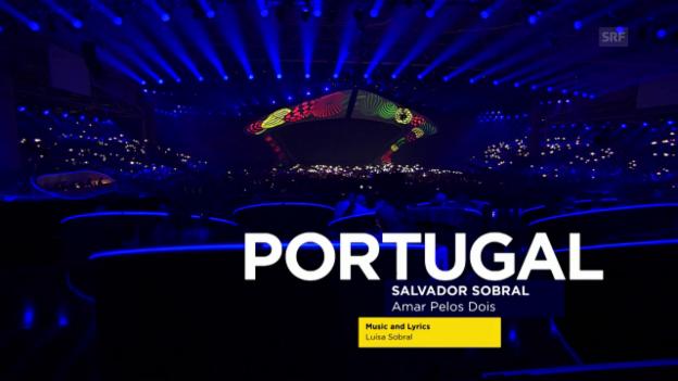 Video «Salvador Sobral: «Amar Pelos Dois»» abspielen