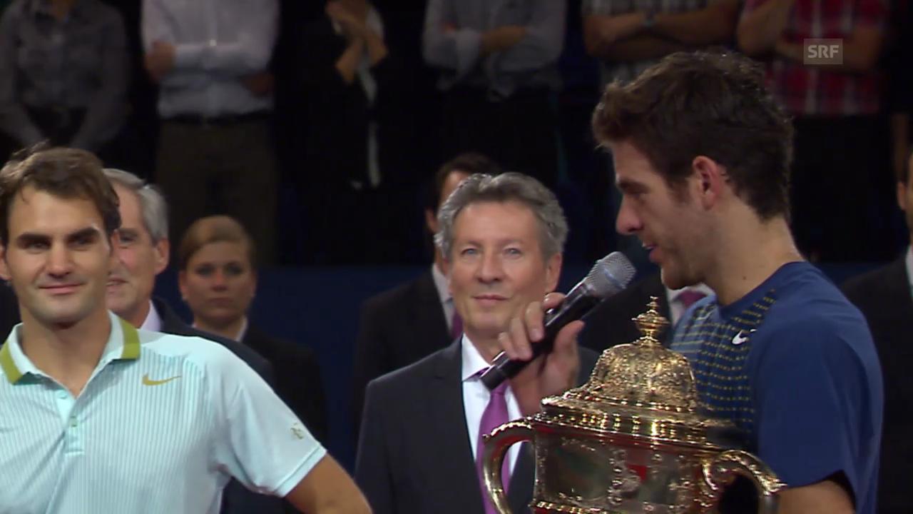 Del Potro zu Federer: «Du bist eine Inspiration.»