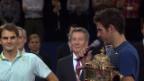 Video «Del Potro zu Federer: «Du bist eine Inspiration.»» abspielen