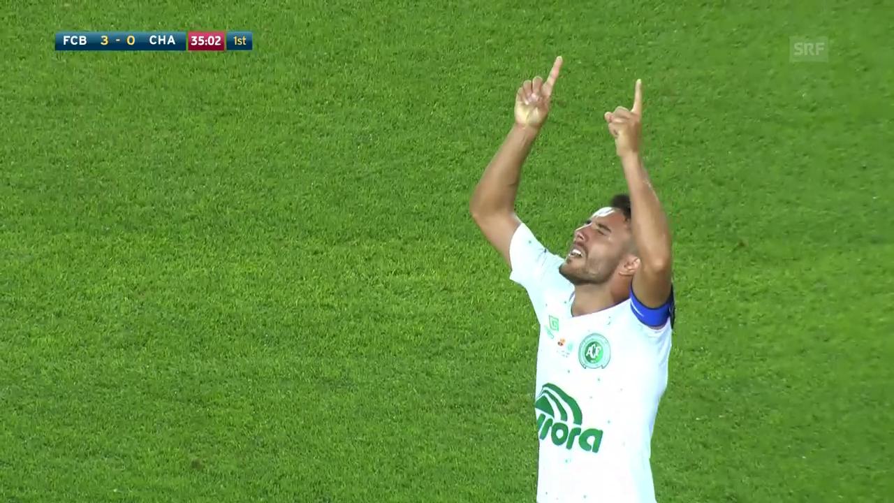 Emotionaler Auftritt für Chapecoense-Spieler in Barcelona