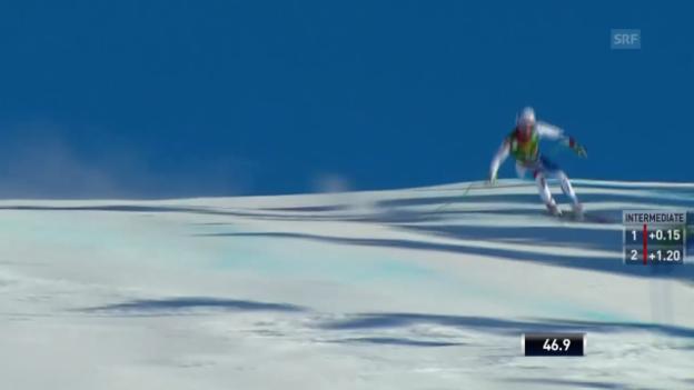 Video «Ski: Super-G Lake Louise, Fahrt von Janka» abspielen