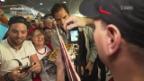 Video «Roger Federer wird in Zürich herzlich empfangen» abspielen