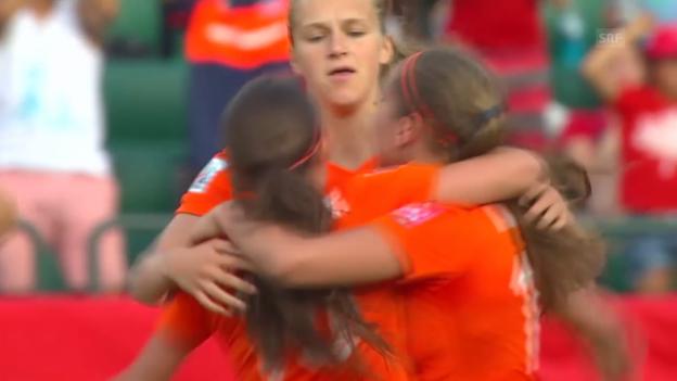 Video «Fussball: Frauen-WM 2015, Gruppe A, Niederlande - Neuseeland» abspielen