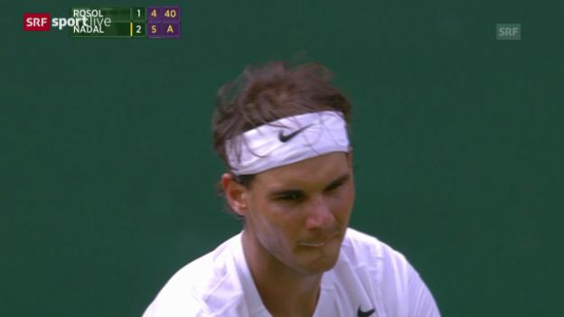 Video «Tennis: Wimbledon, Nadal-Rosol, Matchball» abspielen