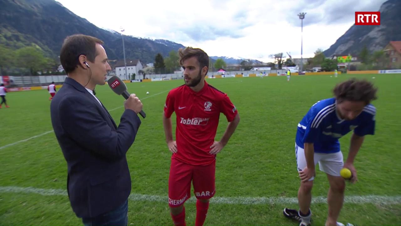 Facit da pausa cun Ramon Derungs (USSI) e Rafael Gomes Machado (Cuira 97)