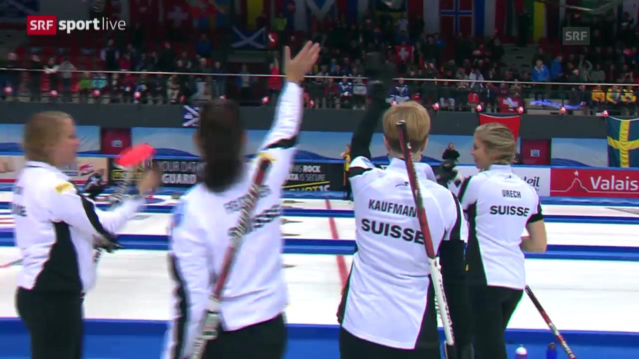 Curling: Schweizer Equipen in den Playoffs