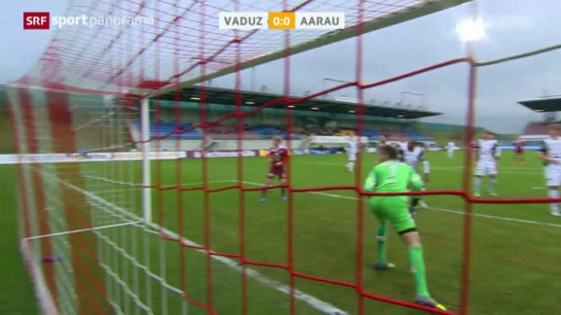 Video «Fussball: Super League, Vaduz - Aarau» abspielen