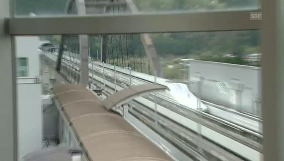 Der Maglev donnert über die Teststrecke