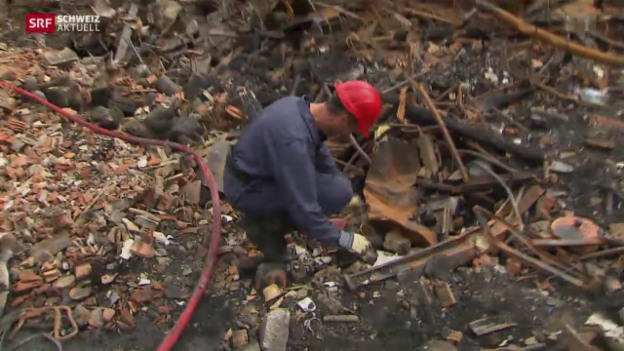 Video «Brandermittler nimmt Arbeit auf» abspielen