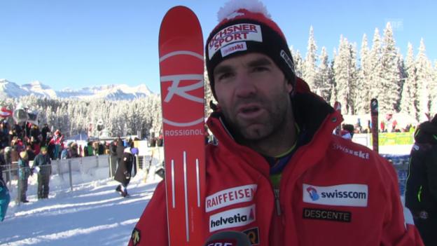 Video «Ski: SG Lake Louise, Interview mit Didier Défago» abspielen