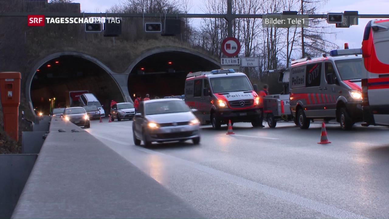 Massencrash im Luzerner Eich-Tunnel