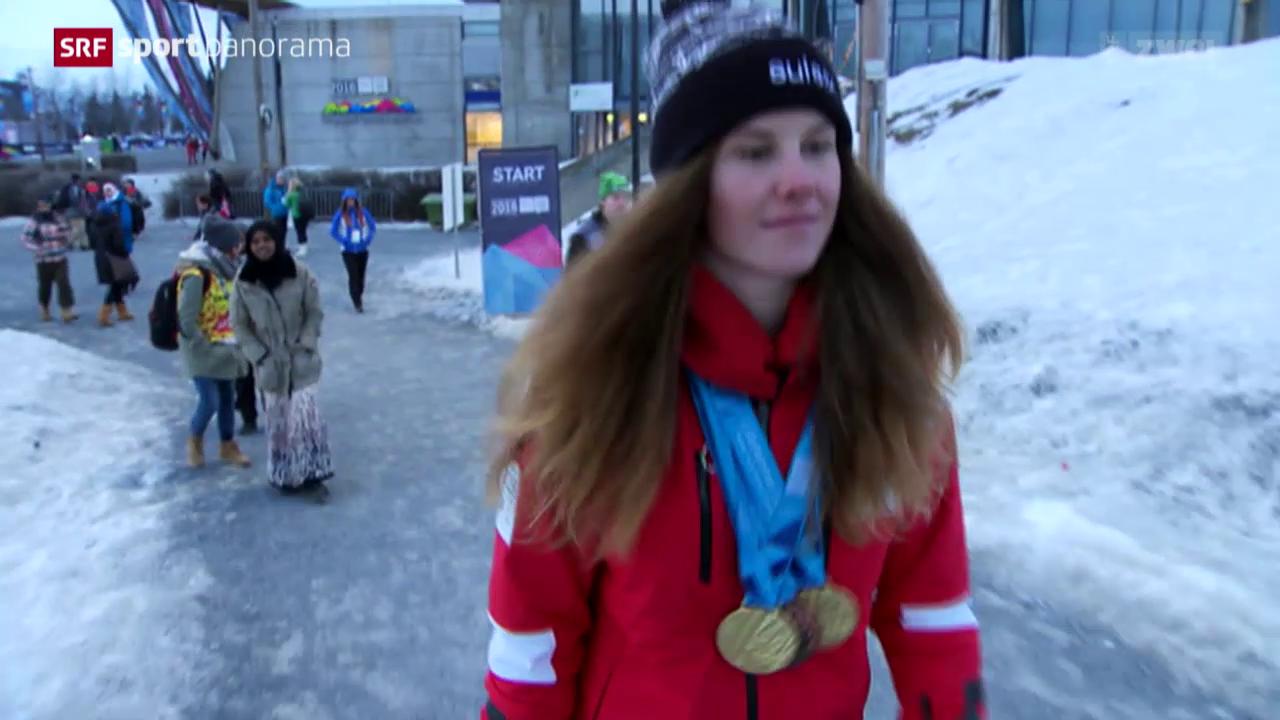 Olympische Jugendspiele: Aline Danioth räumt ab