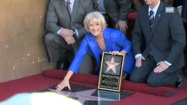 Helen Mirren enthüllt ihren Stern auf dem «Walk of Fame»