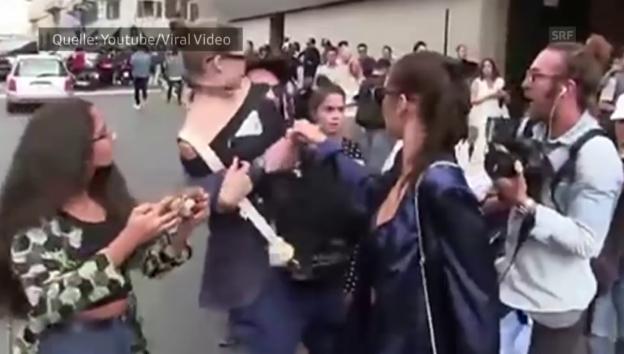 Video «Gigi Hadid wird attackiert (unvertont)» abspielen