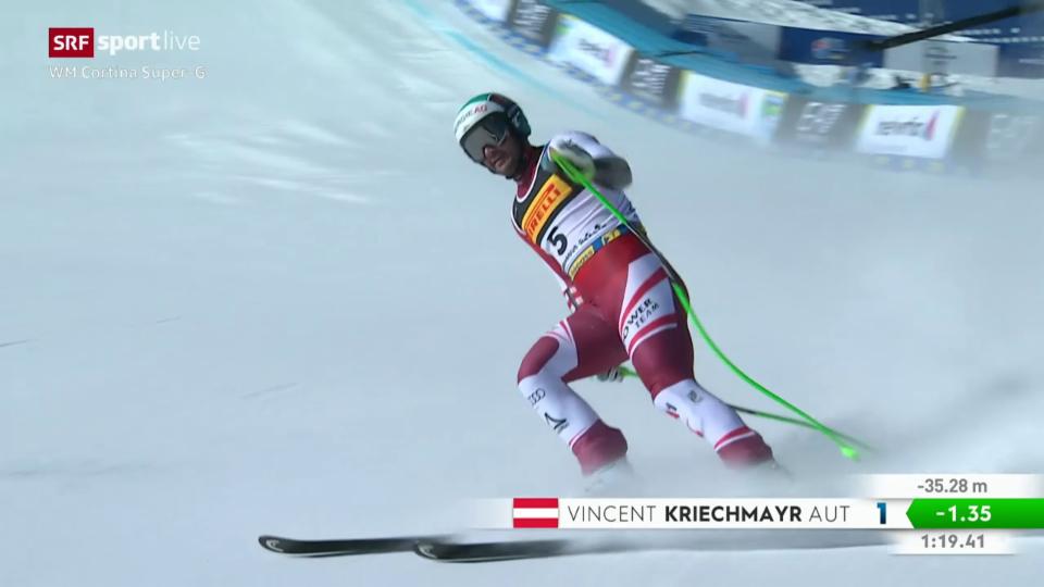 La cursa dal campiun mundial Vincent Kriechmayr
