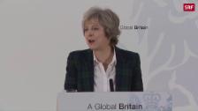 Link öffnet eine Lightbox. Video May strebt harten Brexit an abspielen
