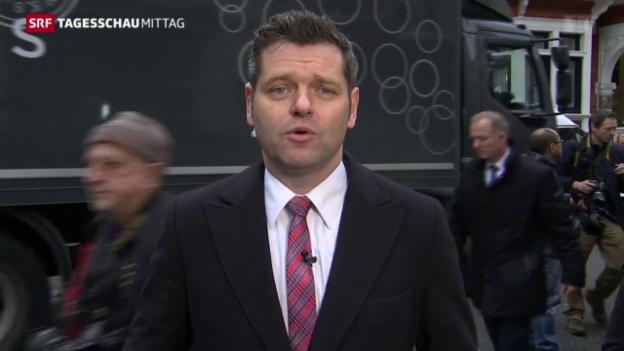 Video «Korrespondent Urs Gredig zu Assange» abspielen