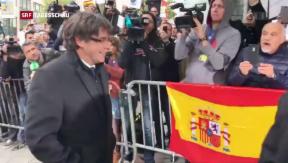 Video «Puigdemont in Brüssel» abspielen