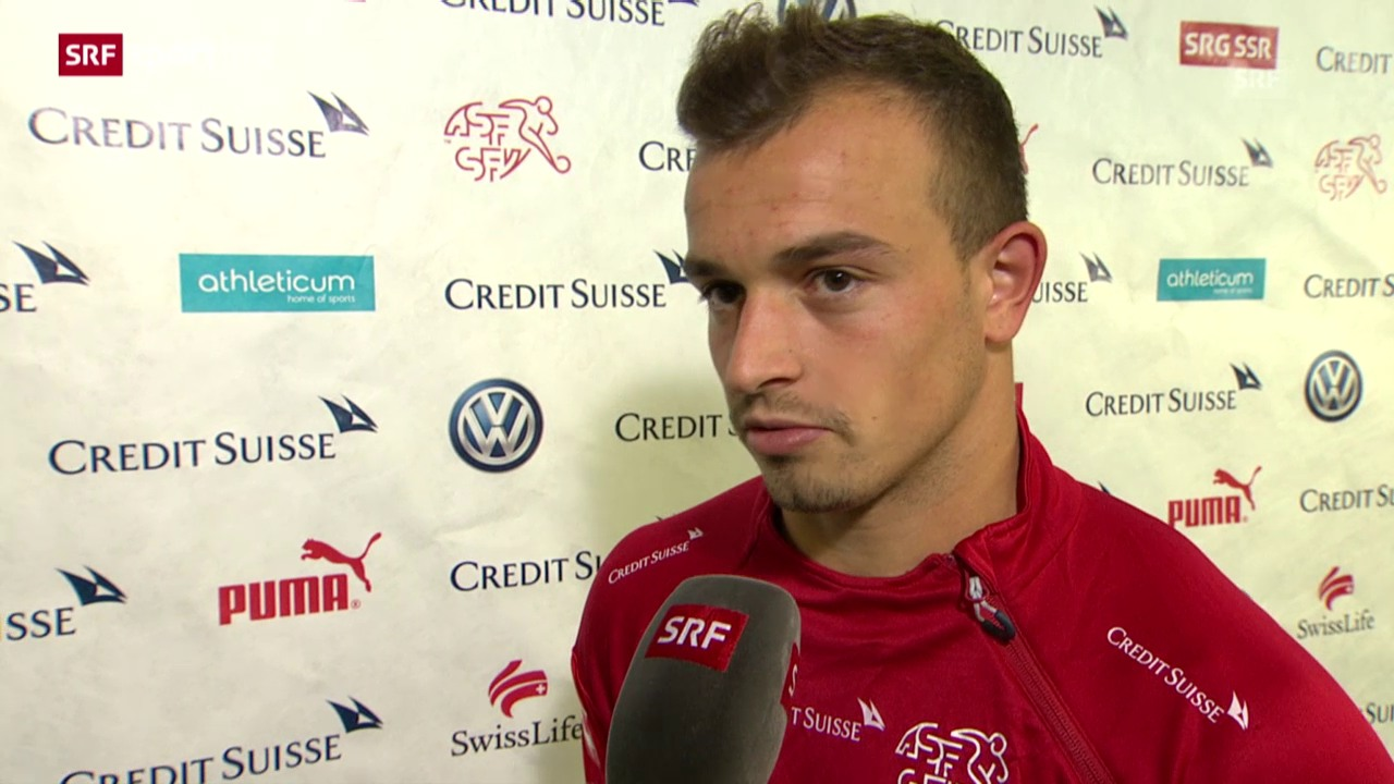 Fussball: EM-Quali, Interview Shaqiri