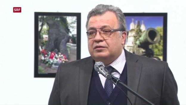 Video «Russischer Botschafter in Ankara ermordet» abspielen