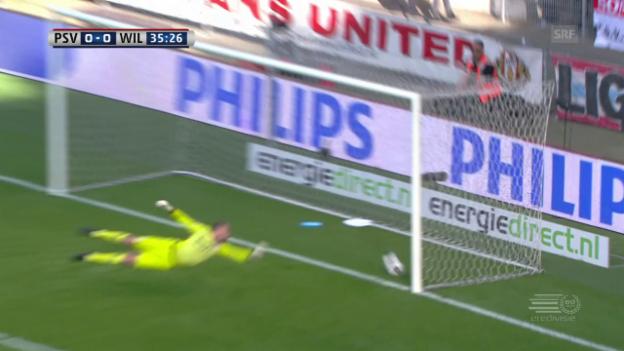 Video «Das aberkannte Tor bei Willem-PSV (sntv)» abspielen