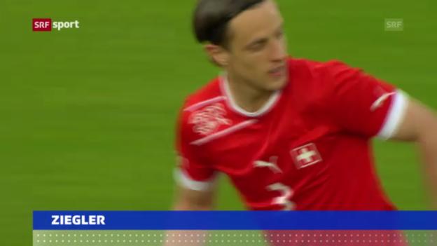 Video «Fussball: Reto Ziegler zu Sassuolo («sportaktuell»)» abspielen