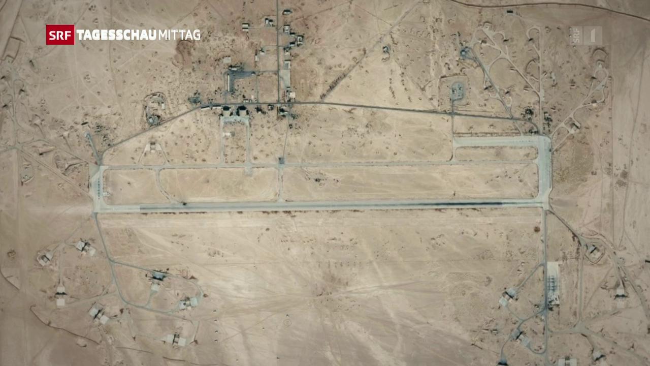 Bombardierung eines syrischen Militärflughafens
