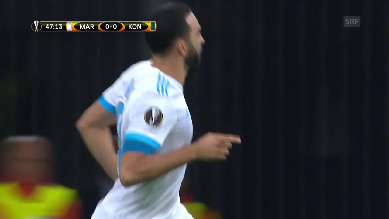 Marseille-Konyaspor: Die Tore