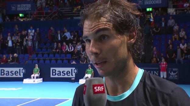 Video «Tennis: ATP Basel, Platz-Interview Nadal» abspielen